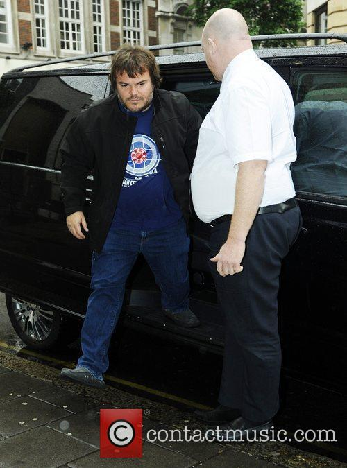 Jack Black arrives at the BBC Radio One...