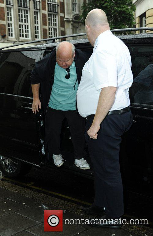 Kyle Gass arrives at the BBC Radio One...