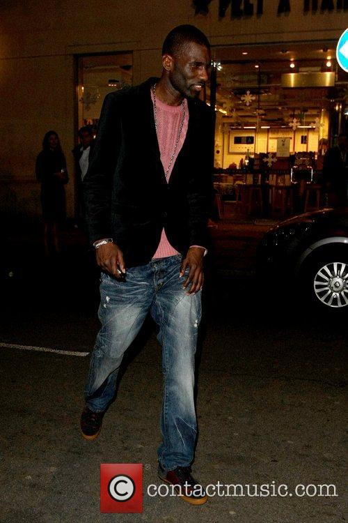 Wretch 32 Celebrities leaving the Rose Club London,...