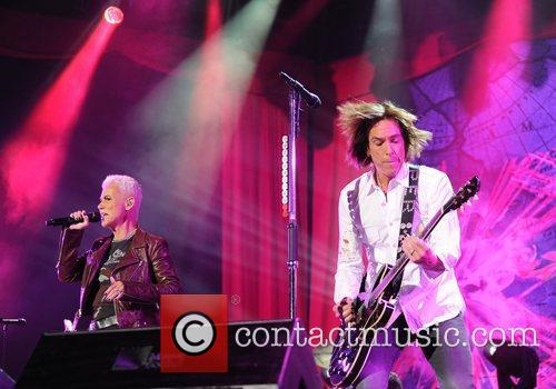 Marie Fredriksson and Per Gessle of Roxette...