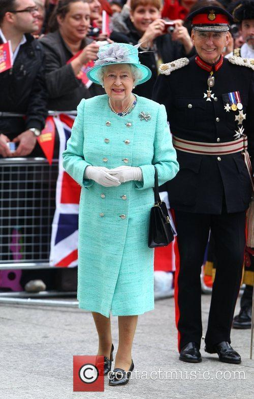 HRH Queen Elizabeth II arrives at market Square...
