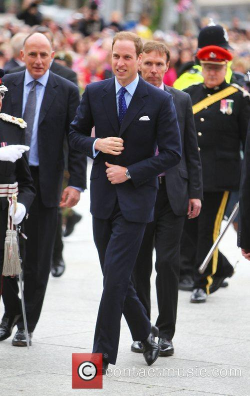 Prine William, Duke of Cambridge arrives at market...