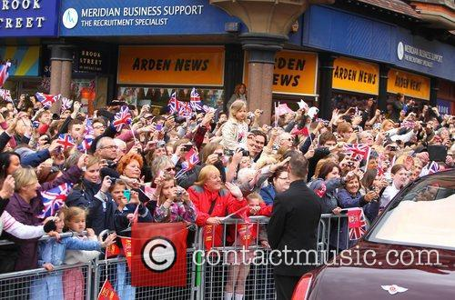 Atmosphere The Queen Elizabeth II Jubilee visit in...