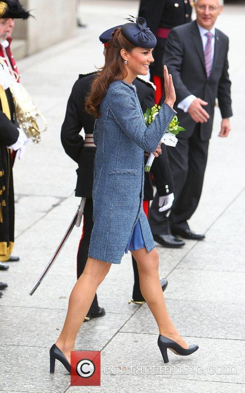 Catherine, Duchess of Cambridge, aka Kate Middleton leaving...