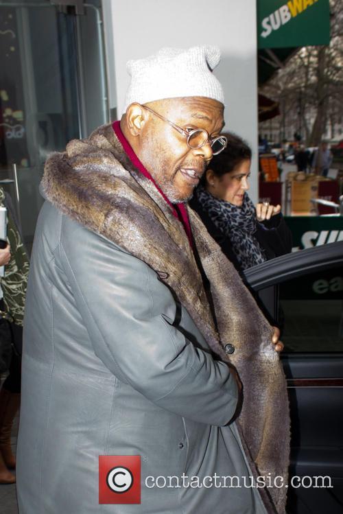 Samuel L. Jackson leaving the Capital FM studios