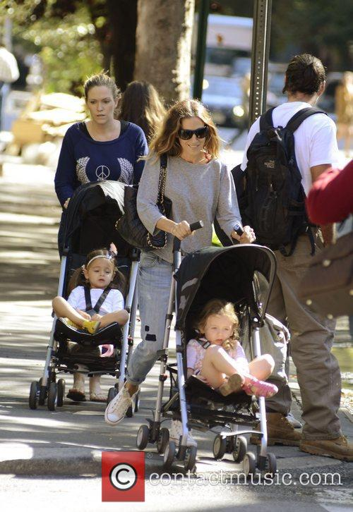 Sarah Jessica Parker and her twins Marion and...