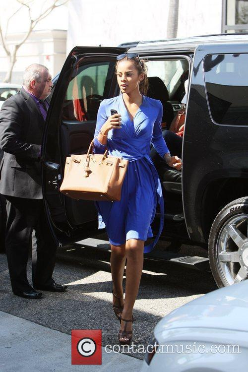 Rochelle Wiseman of The Saturdays  shopping with...