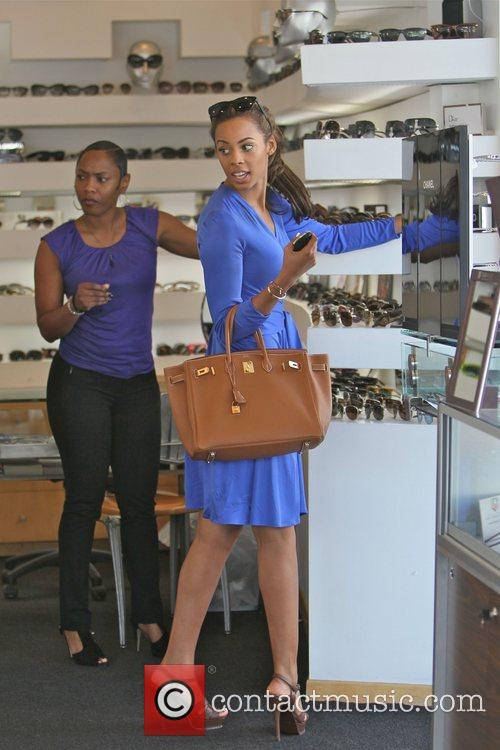 Rochelle Wiseman of The Saturdays  shopping for...