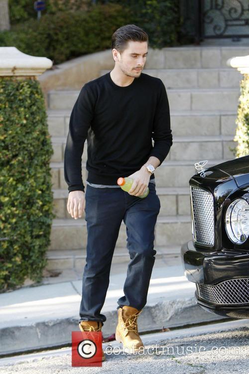 Scott Disick Scott Disick leaving Kim Kardashian's house...