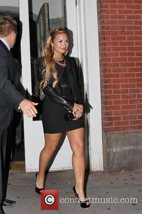 Demi Lovato leaving the ABC Kitchen after dinner...