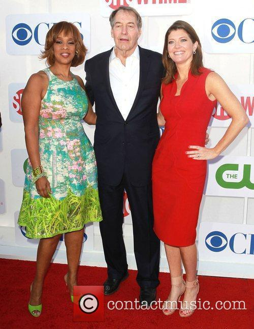 Gayle King, Charlie Rose and Norah O'Donnell CBS...