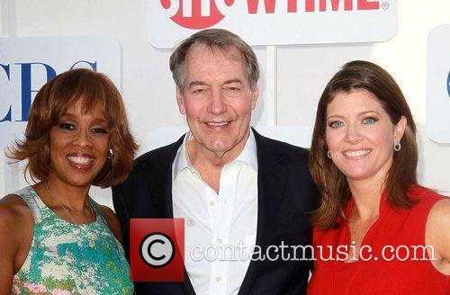 Gayle King, Charlie Rose and Beverly Hilton Hotel 1