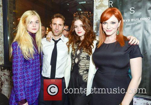 Elle Fanning, Alessandro Nivola and Christina Hendricks 2