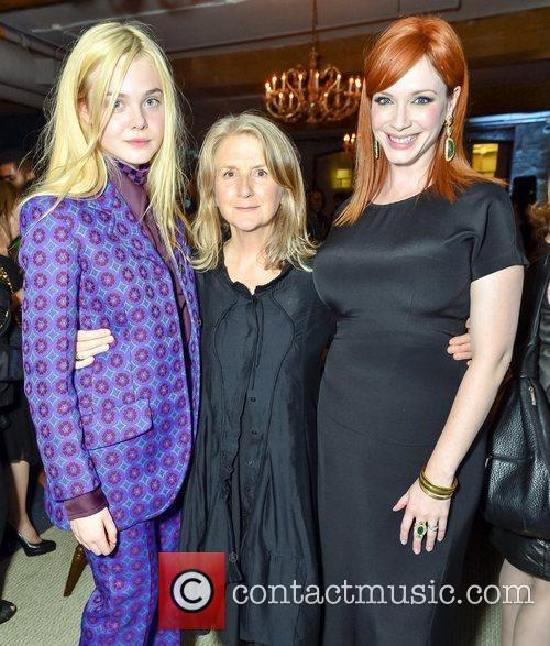 Elle Fanning, Christina Hendricks and Sally Potter 1