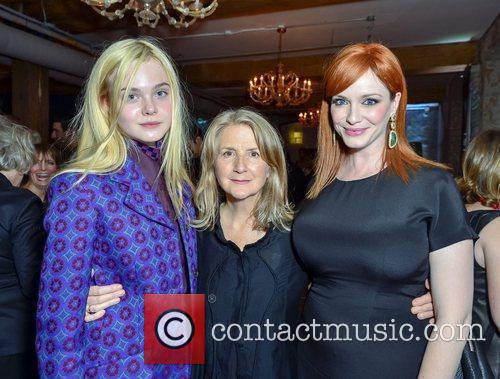 Elle Fanning, Christina Hendricks and Sally Potter 3