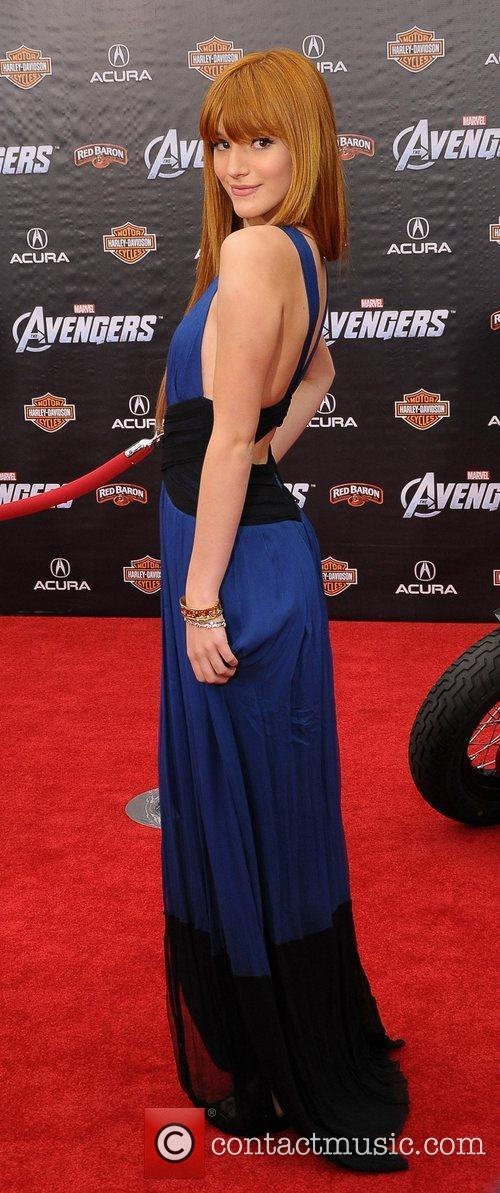 Bella Thorne World Premiere of The Avengers at...