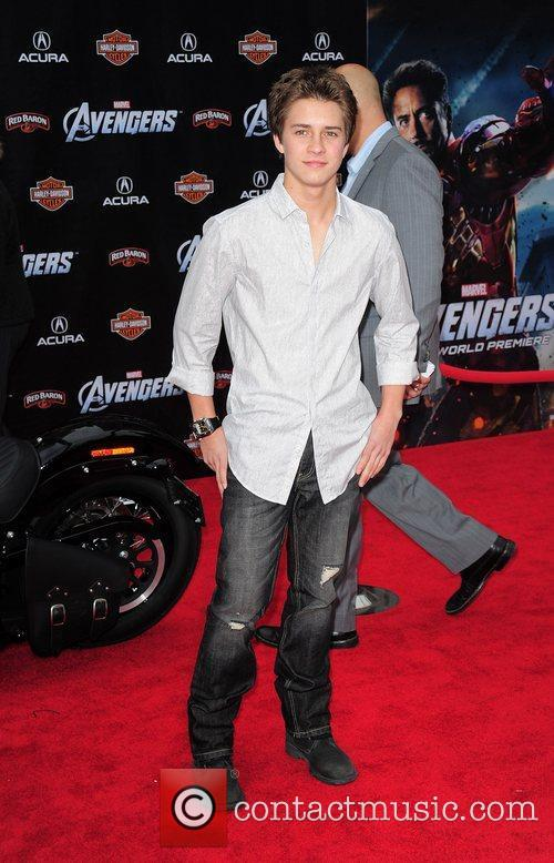Billy Unger World Premiere of The Avengers at...