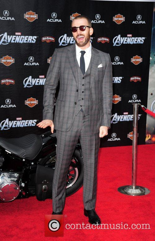 Chris Evans World Premiere of The Avengers at...