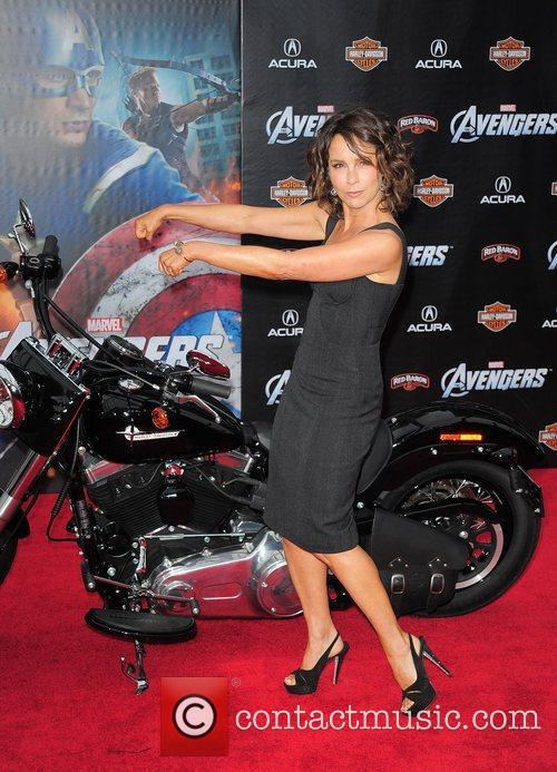 Jennifer Grey World Premiere of The Avengers at...