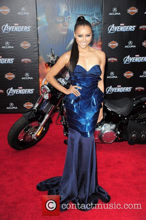 Kat Graham World Premiere of The Avengers at...