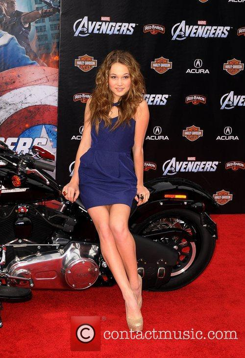 Kelli Berglund World Premiere of The Avengers at...