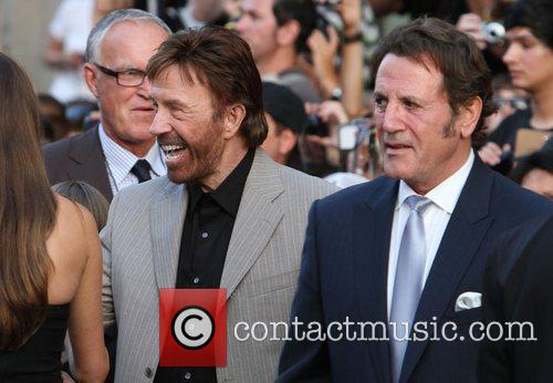 Chuck Norris with Frank Stallone  at the...