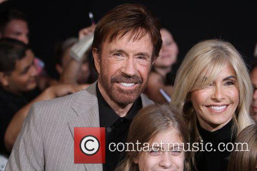 Chuck Norris with his wife Gena  at...