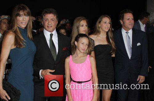 Sylvester Stallone, with his wife Jennifer Flavin and...