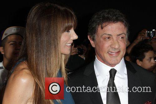 Sylvester Stallone, with his wife Jennifer Flavin...