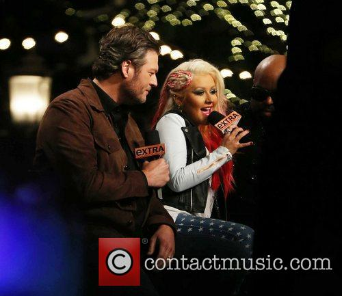 Blake Shelton and Christina Aguilera 2