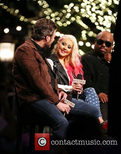 Blake Shelton, Christina Aguilera and Cee Lo Green 7
