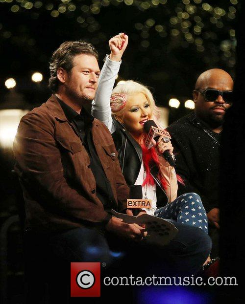 Blake Shelton, Christina Aguilera and Cee Lo Green 2