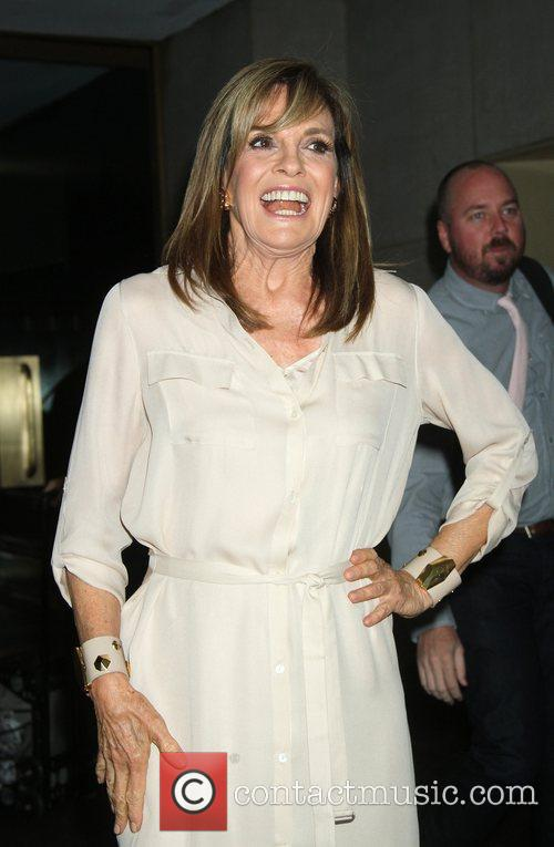 Linda Gray Leaving the Today Show after talking...