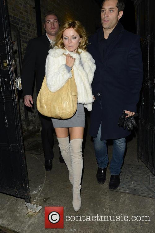 Geri Halliwell leaving Tonteria nightclub via the back...