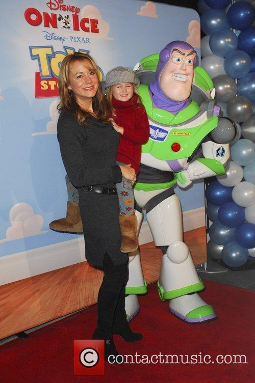 Megyn Price, daughter Grace  Disney On Ice...