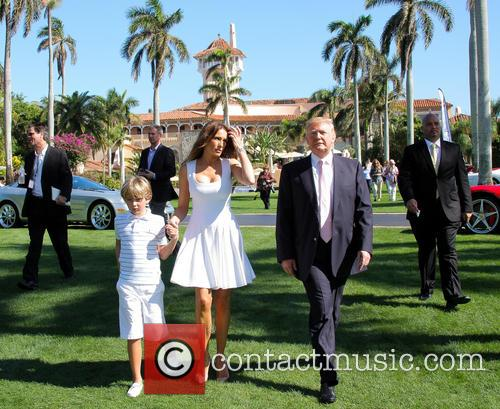 Donald Trump, Melania Trump and Barron Trump 5