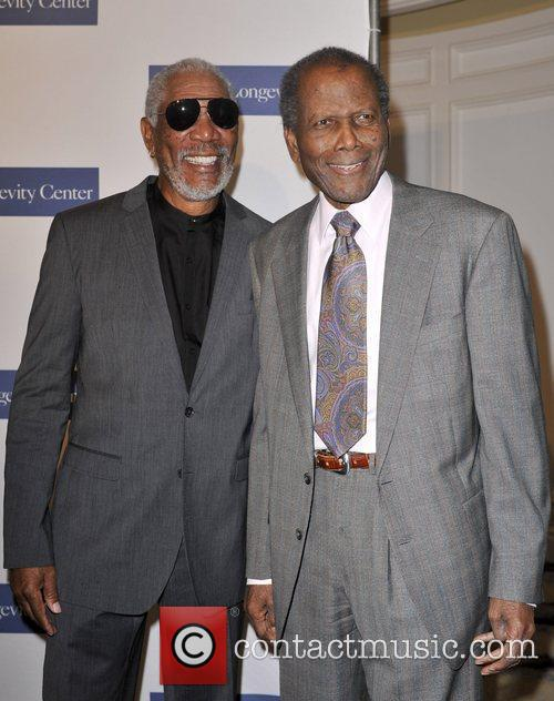 Morgan Freeman and Sidney Poitier 3