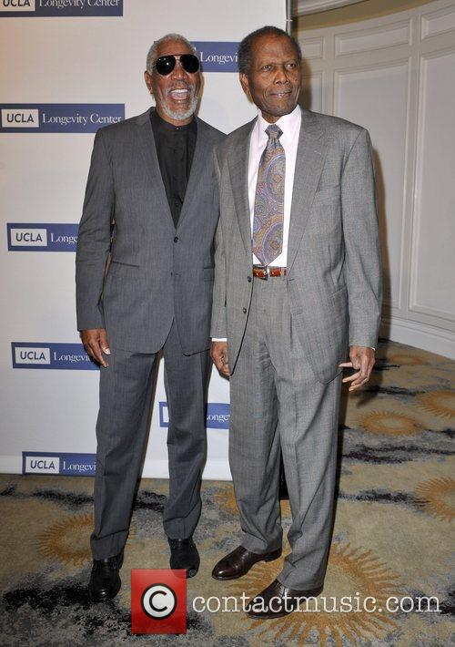 Morgan Freeman and Sidney Poitier 4