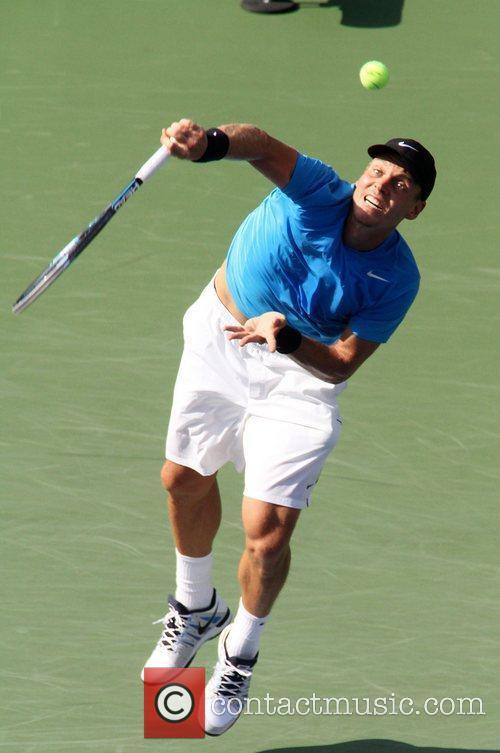 Tomas Berdych (CZE) in action U.S. Open 2012...