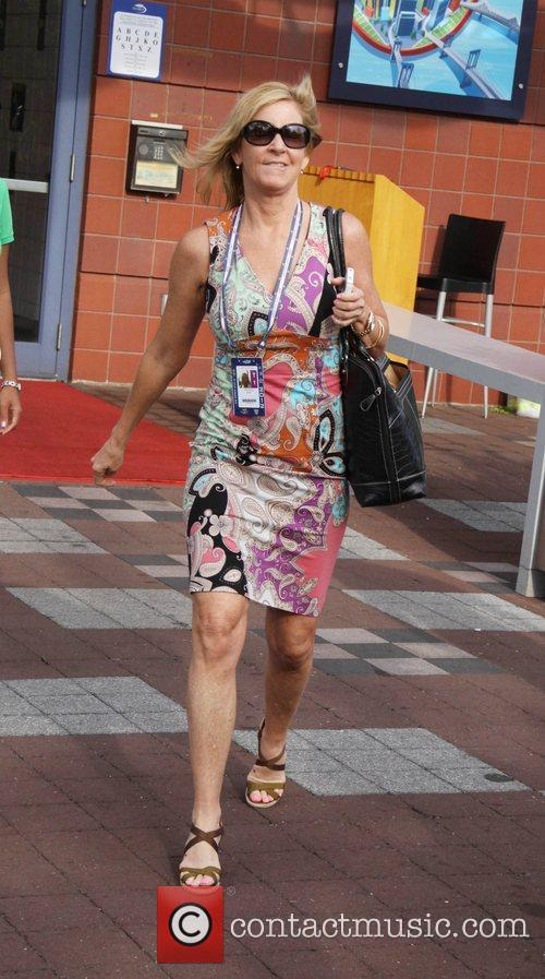 Chris Evert Celebrities at the 2012 US Open...