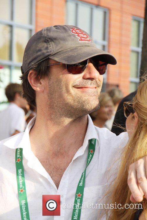 Jon Hamm Celebrities at the 2012 US Open...