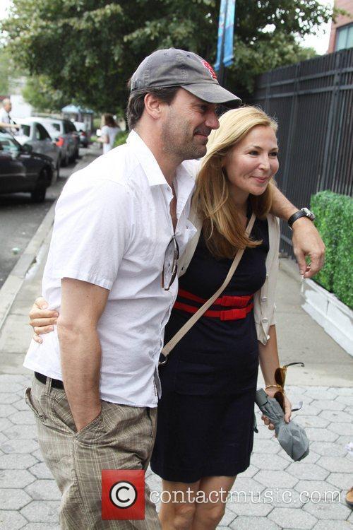 Jon Hamm, Jennifer Westfeldt  Celebrities at the...