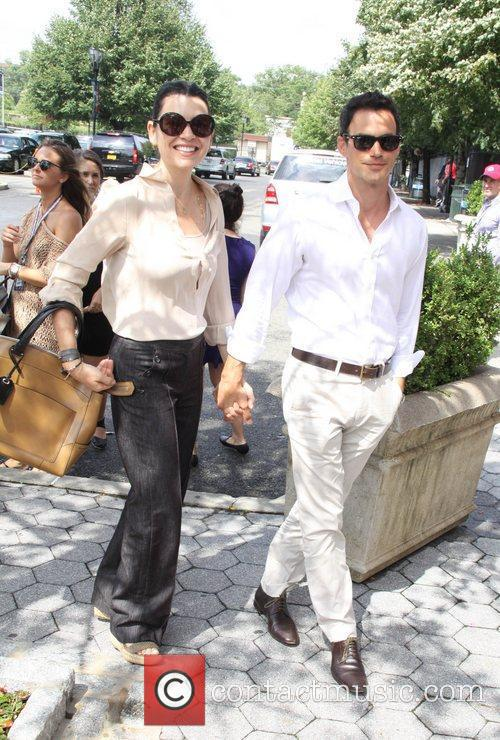 Julianna Margulies, Keith Lieberthal  Celebrities at the...