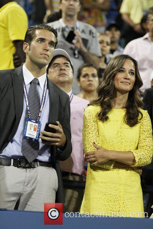 Spencer Vegosen and Pippa MIddleton in the crowd...