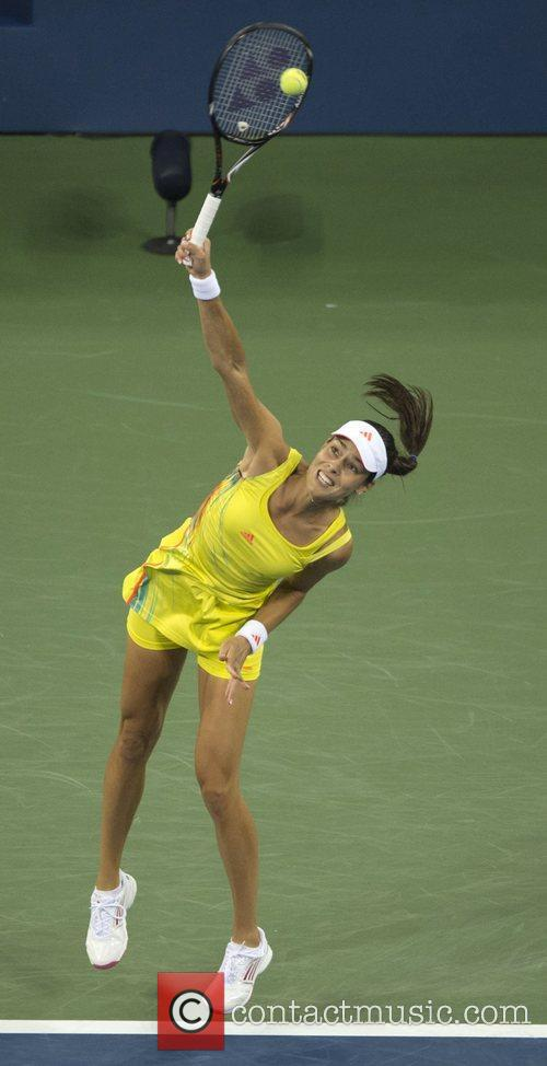 In action against Serena Williams of the USA...