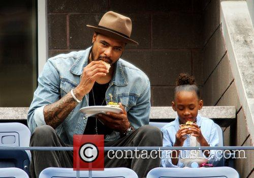 New York Knicks center Tyson Chandler and his...