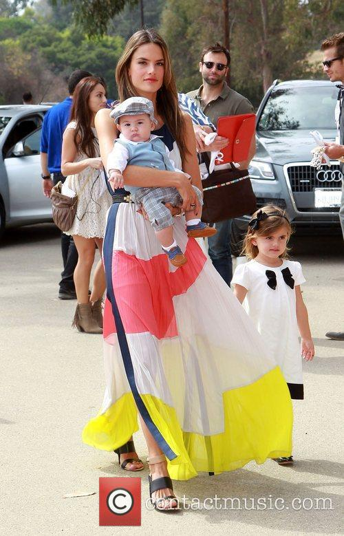 Alessandra Ambrosio, Noah and Daughter Anja 3
