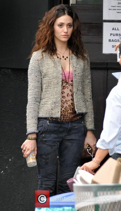 Emmy Rossum Actors on the set of their...