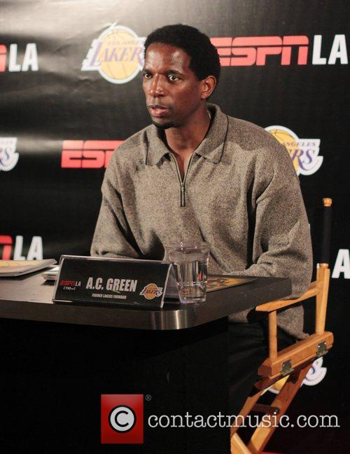 A.C. Green attends an autograph signing at The...