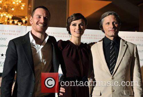 Keira Knightley, Michael Fassbender and Viggo Mortensen 2